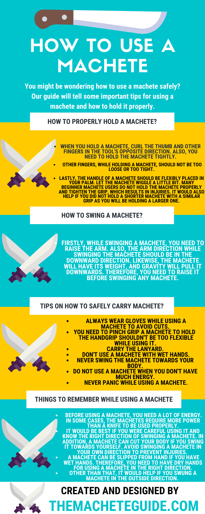 How to use a machete